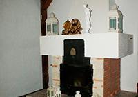 Камин в Зале на усадьбе Верес
